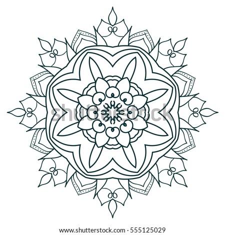 Blackwork Tattoo Flash Peony Flower Deer Stock-vektorgrafik ...