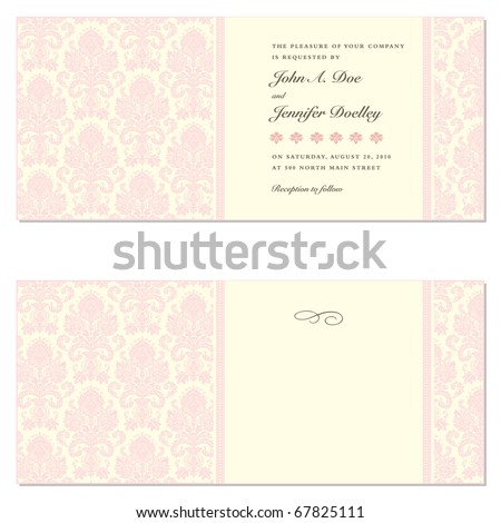 Set of ornate vector frames. Easy to edit. Perfect for wedding invitations or announcements.