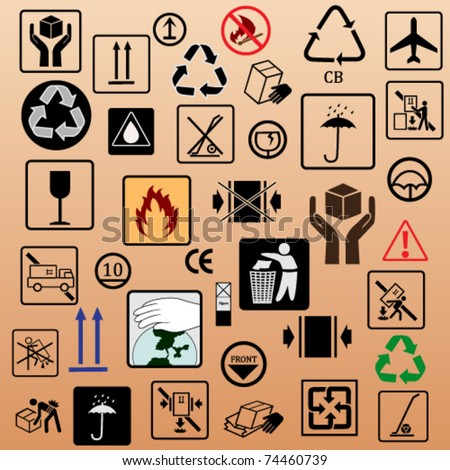 Packing symbols stock images royalty free images for Box significato