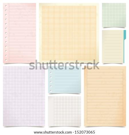 set of paper - stock vector