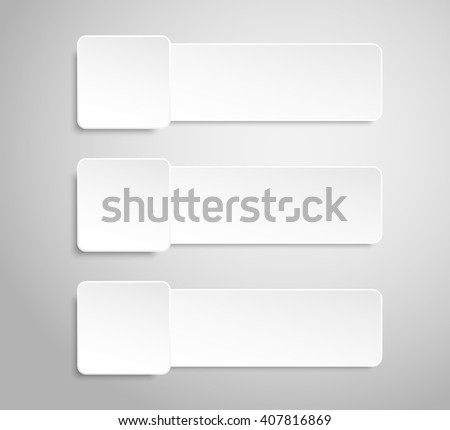 Set of paper banners template for business design, infographics. Vector illustration eps10. - stock vector