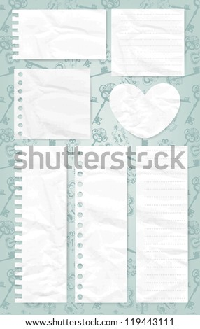 Set of paper banners. Vector illustration. EPS 10 - stock vector