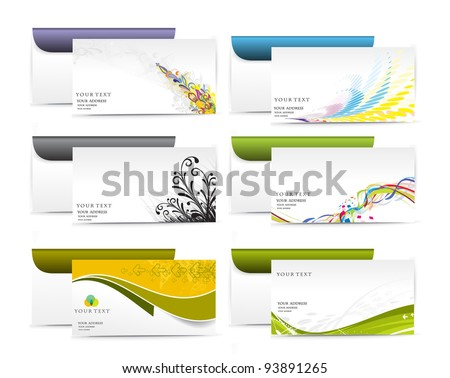 set of Paper envelope isolated on white background, vector illustration. - stock vector