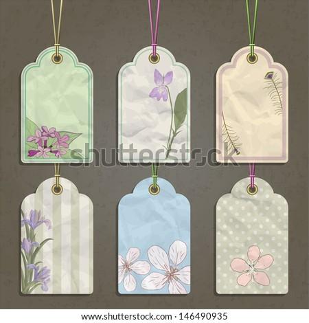 set of paper labels, vector illustration, eps10 - stock vector
