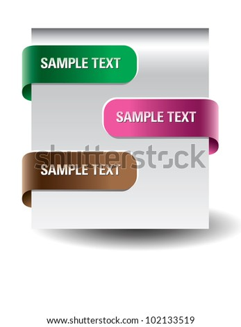 Set of paper tags. - stock vector