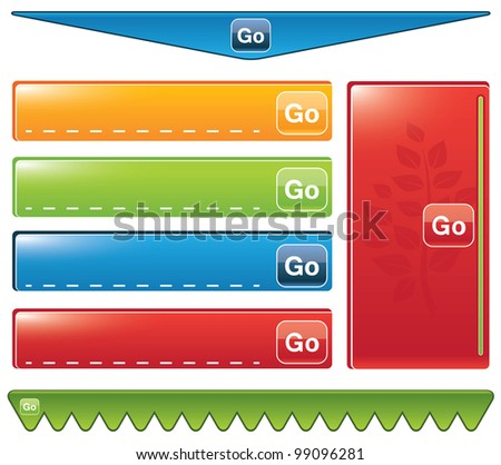 set of paper tags - buttons - stock vector