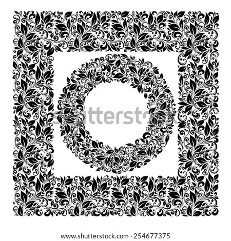 Set of patterns and framework leaves - stock vector