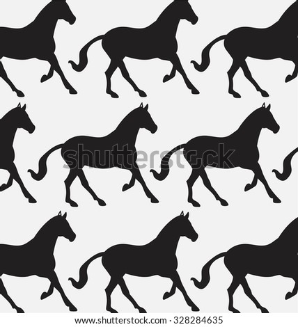 set of patterns with the horse