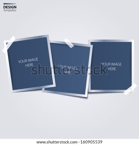 Set of photo frames. - stock vector