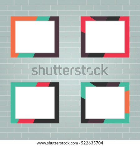 Set Photo Frames Realistic Photo Frame Stock Vector 522635704 ...