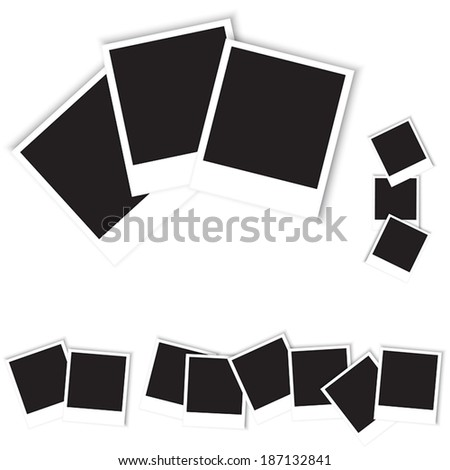 set of photos vector illustration