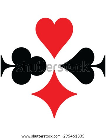 Set of playing cards symbol, vector, isolated, background, pattern - stock vector