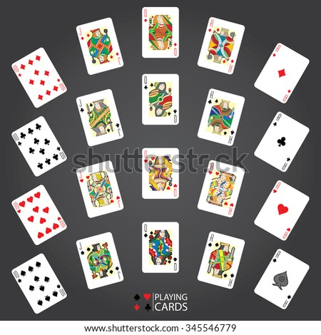king and aces cards vector images