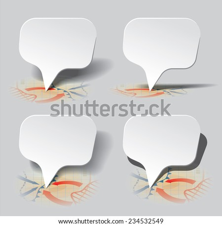 Set of pointers set at different angles to the surface. Vector Illustration - stock vector