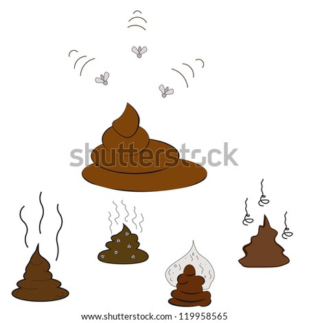 Set of Poop. Vector Illustration - stock vector