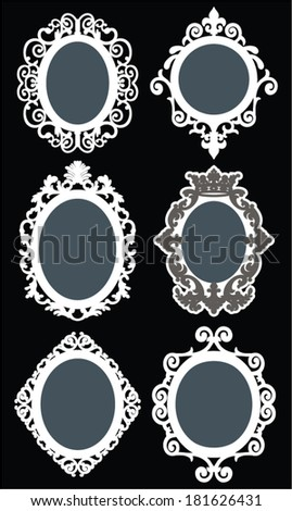 Set of portraits frame. - stock vector