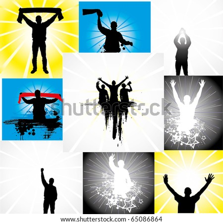 Set of posters for sports championships - stock vector