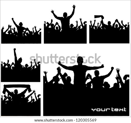 Set of posters for sports championships and concert - stock vector