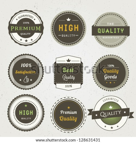 Set of Premium Quality - stock vector