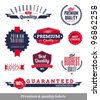 Set of premium & quality labels and emblems - stock vector