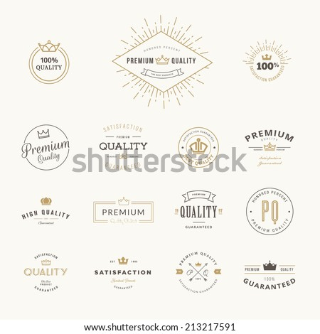 Set of premium quality stickers and elements - stock vector