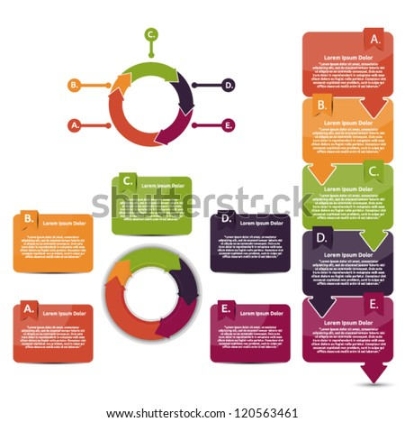 Set of presentation and reports - stock vector
