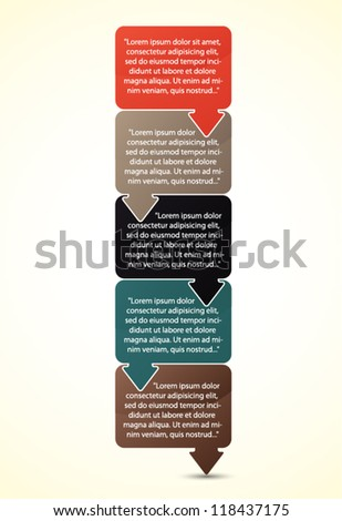 Set of presentation text box - stock vector