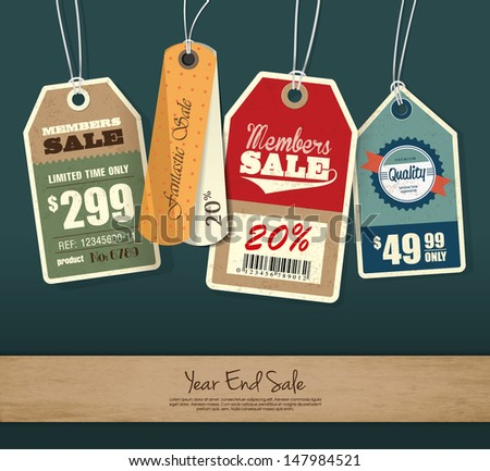 Set of Price Tag Design - stock vector
