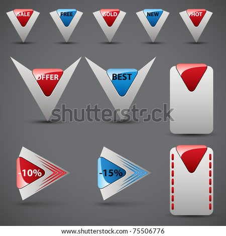 Set of price tags | pointers.Vector illustration. - stock vector