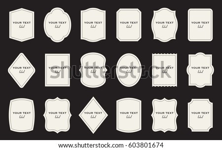 Set Product Label Templates Different Shapes Stock Photo Photo