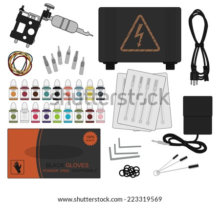 Tattoo equipment stock images royalty free images for Types of tattoo machines