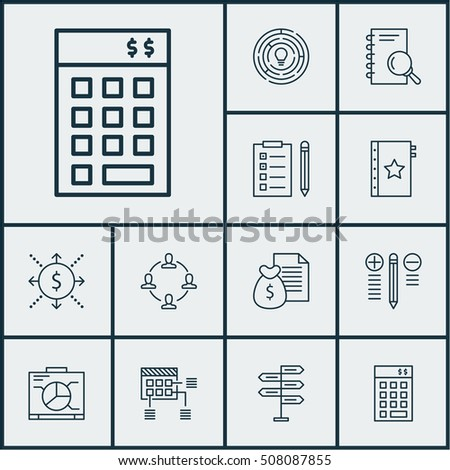 Set Of Project Management Icons On Analysis, Innovation And Schedule Topics. Editable Vector Illustration. Includes Research, Task, List And More Vector Icons.