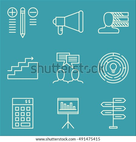 Set Of Project Management Icons On Best Solution, Investment, Statistics And More. Premium Quality EPS10 Vector Illustration For Mobile, App, UI Design.