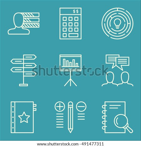 Set Of Project Management Icons On Decision Making, Personality, Creativity And More. Premium Quality EPS10 Vector Illustration For Mobile, App, UI Design.