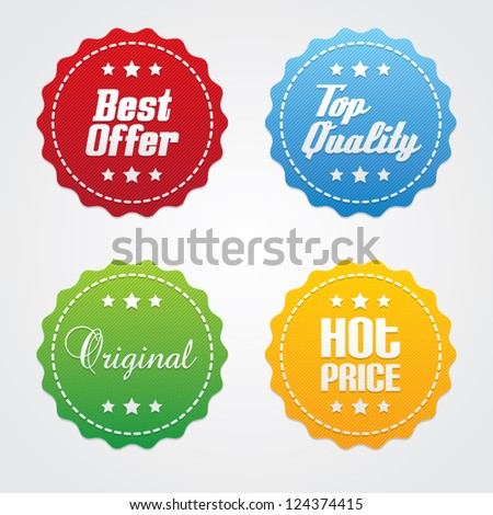 Set of Promotional Vector Labels - stock vector