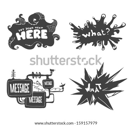 Set of psychedelic banners. Vector graphics set. - stock vector