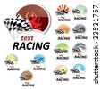 set of racing signs - stock vector
