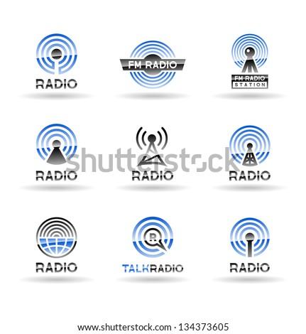 Set of radio station icons. Vol 1. - stock vector