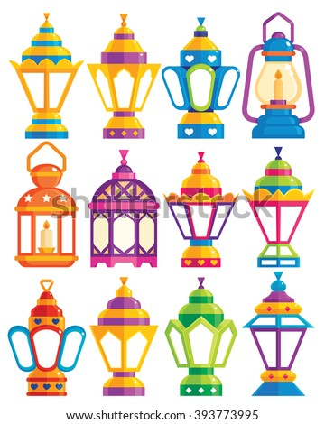 Set of 12 Ramadan Lanterns