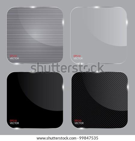 Set of realistic glass frames. Vector illustration. - stock vector