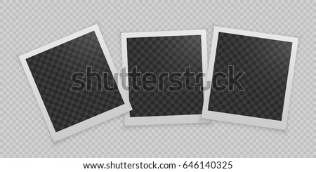 Polaroid picture stock images royalty free images vectors set of realistic vector photo frame template photo design vector illustration pronofoot35fo Choice Image