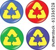 Set of recycle buttons icons - stock vector
