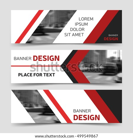 Set red horizontal business banner templates stock vector 499549867 set red horizontal business banner templates stock vector 499549867 shutterstock wajeb Choice Image