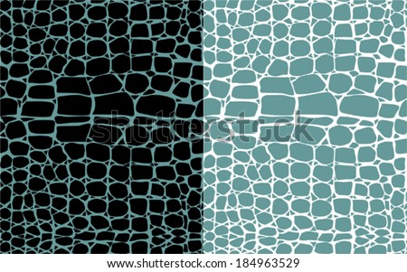 Set of reptile skin seamless patterns  - stock vector
