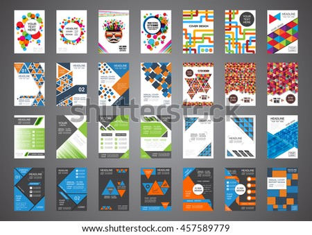 set of retro and modern cover design, brochure template - stock vector