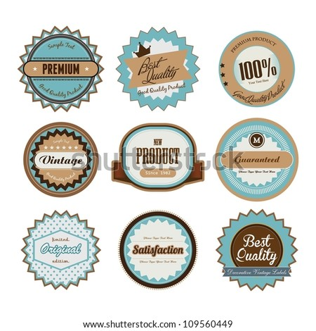 set of retro badge collection - stock vector