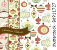 Set of Retro Christmas patterns - stock vector