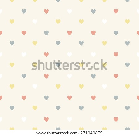 Set of retro love patterns. Seamless vector background. - stock vector