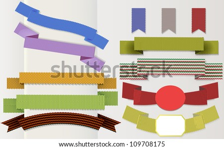 Set of retro ribbons and scrapbooking. Vector illustration can be used banners, invitation, congratulation or website layout vector. - stock vector