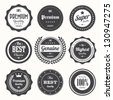 Set of  retro vintage badges and labels.eps10 - stock photo